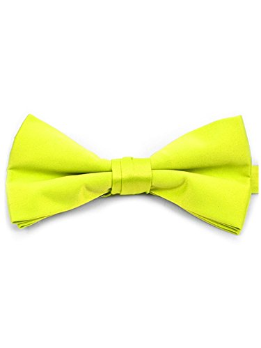 Men's Neon Yellow Pre-tied Adjustable Length Bow Tie