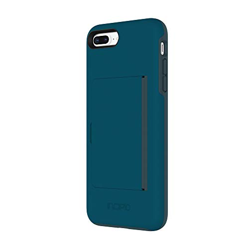 Incipio Stowaway iPhone 8 Plus & iPhone 7 Plus Case with Credit Card Slot Holder and Integrated Stand for iPhone 8 Plus & iPhone 7 Plus - Navy