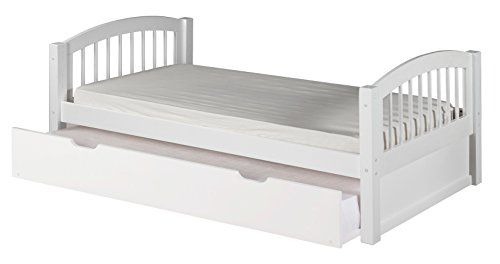 Camaflexi Arch Spindle Style Solid Wood Platform Bed with Trundle