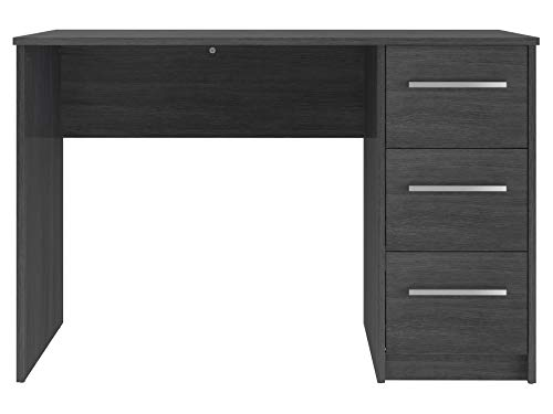 Marque Amazon –Movian – Bureau 3tiroirs Idro Modern, 56 x 110 x 73,5, Gris