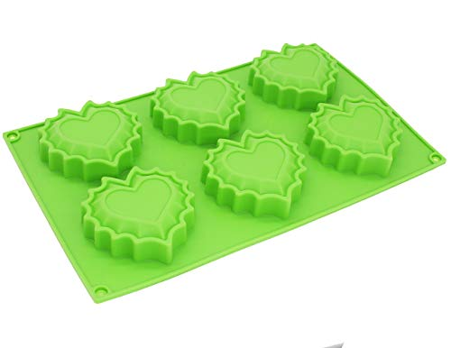 (X-Haibei Flaming Heart Soap Mold Jello Cookies Chocolate Ice Cream Silicone)