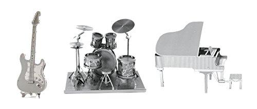 Fascinations Metal Earth Electric Guitar 3D Metal Model Kit,