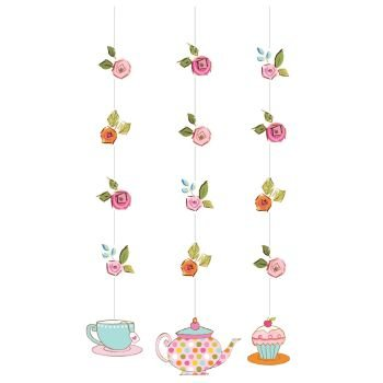 tea time hanging cutouts danglers party decoration by creative converting - Party Products