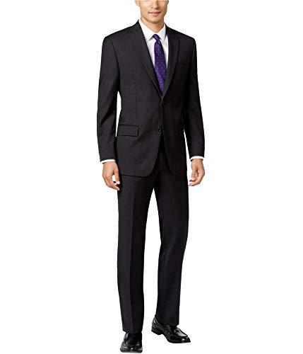 (Michael Kors Mens Classic-Fit Two Button Suit, Black, 42 Regular / 34W x 35L)