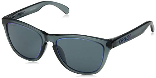 Oakley Men's Frogskins (a) Non-Polarized Iridium Rectangular Sunglasses, MATTE CRYSTAL BLACK, 54.5 mm (Frogskins Matte Black)
