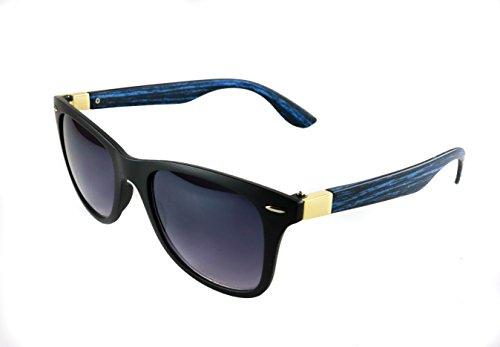 Retro ocean blue wooden - Sunglasses Crap