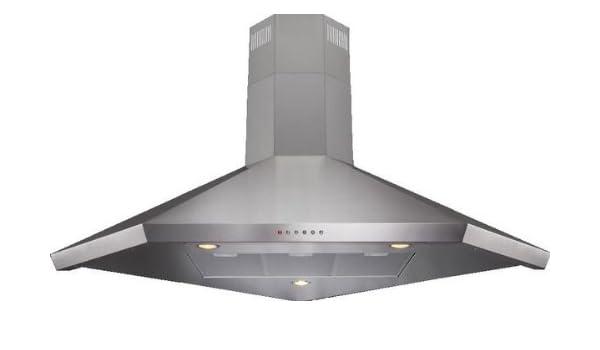 CDA A1SS - Campana (500 m³/h, Canalizado/Recirculación, 48 dB, De esquina, Acero inoxidable, 20 W): Amazon.es: Hogar