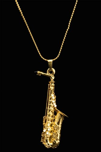 Amazon.com  Alto Sax Necklace - Gold  Musical Instruments 98b4b97ec256