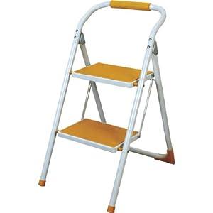 折りたたみ式 脚立 ステップ イエロー LFS-007YE おしゃれデザイン踏み台