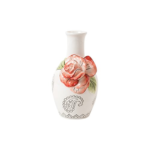 Fitz Vase - Fitz and Floyd Paisley Park Collection, Coral Bud Vase