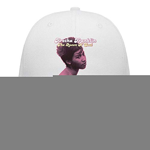 White Unisex Mens Aretha-Franklin-reported-to-be-Gravely-Ill- Cute Pop Singer Caps Hats Performance