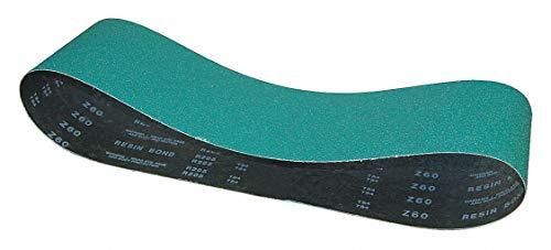 120 Grit Coated Norton Sanding Belt 4 Width Zirconia Alumina EA1 R823P BlueFire 36 Length Fine