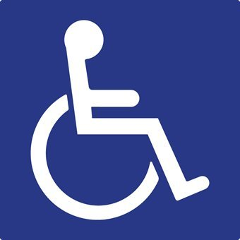 3 Pack of ADA Symbol of Accessibility (ISA) Static Cling Window Decals - 6x6