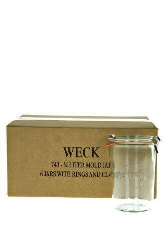 Weck 743 3/4 Mold Jar - Box of 6 (Weck Canning Jars)