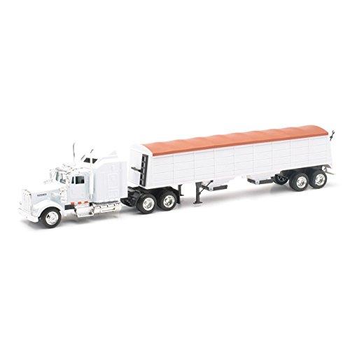 Scale Tractor Diecast 43 (Kenworth Longhauler 18 Wheeler White Semi Truck)