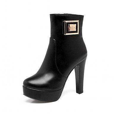 RTRY Zapatos De Mujer Polipiel Primavera Moda Invierno Botas Botas Chunky Talón Puntera Redonda Botines/Botines Polka Dot Para Oficina Informal &Amp; Carrera US5 / EU35 / UK3 / CN34