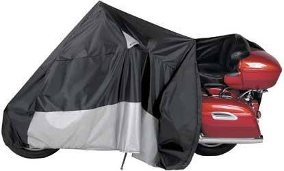 Guardian By Dowco - WeatherAll Plus Indoor/Outdoor Motorcycle Cover - Lifetime Limited Warranty - Reflective - Waterproof - UV Protection - Heat Safe - Moisture Guard Vent - Black - XX - Large - EZ Zip Motorcycle Cover [ 50021-00 (2009 Rain Cover)