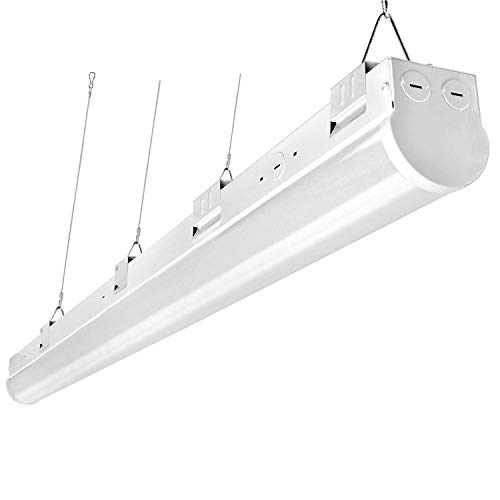 FaithSail 110W LED Strip Lights 8FT Linkable Linear LED Shop Garage Lights, 12500LM, 1-10V Dimmable, 5000K, 8 Foot Lighting Fixtures for Warehouse Supermarket Workshop Office, ETL and DLC Qualified