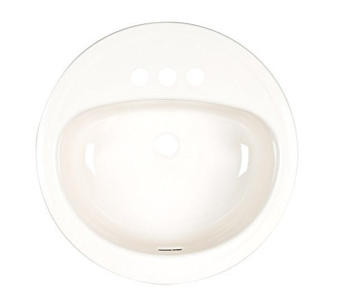 "Elkay 011-2435-06 Bathroom Sink Round Steel, 19"" Bone"