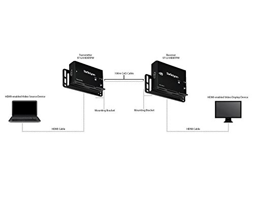 StarTech.com HDMI over CAT5 HDBaseT Extender - Power over Cable - Ultra HD 4K - 330 ft (100m) by StarTech (Image #3)