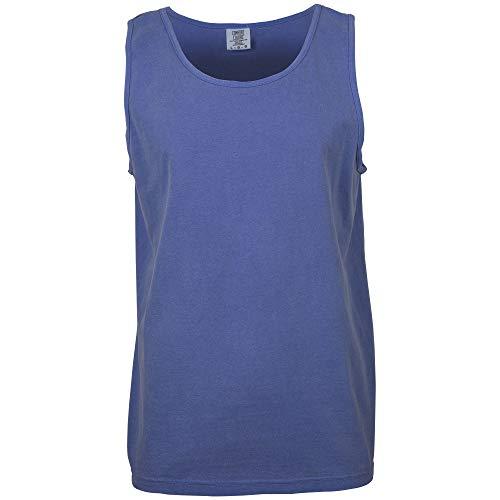 (Comfort Colors Men's Adult Tank Top, Style 9360, Flo Blue, 4X-Large)