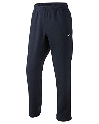 (Nike Club Swoosh Men's Fleece Sweatpants Pants Classic Fit, Large - Navy Blue/White)