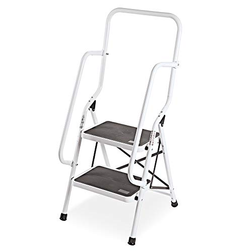 - Genius Safety 2 Step Ladder Folding Stool