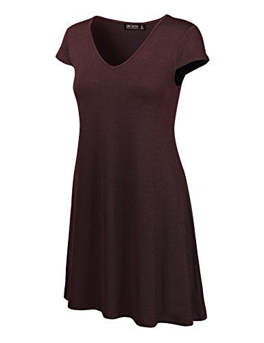 California Made Maglietta Legame Ctc Colorante Wdr1068 Manicotto Si Tutto Donne Incontrano Usa V Vestito Cap In brown Collo n0qOO5w18