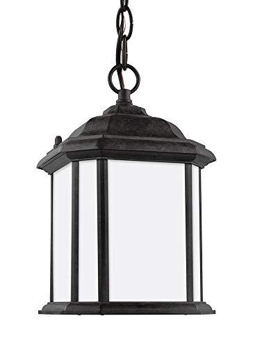 (Sea Gull Lighting 60529EN3-746 Kent One-Light Outdoor Semi-Flush Convertible Pendant, Oxford Bronze)