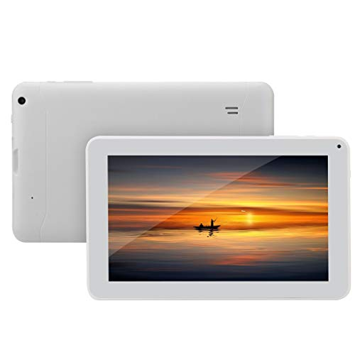Android Tablet 9 Inch 3G Phablet with Quad Core 16GB Dual Camera WiFi Tablet PC Android 4.4Computer Tablet (White) (White) ()