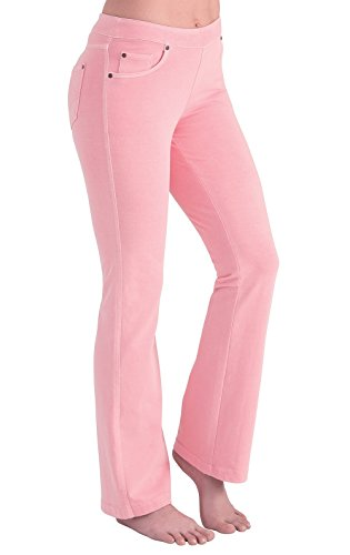 - PajamaJeans Women's Bootcut Stretch Knit Denim Jeans, Hibiscus, X-Small / 0-2