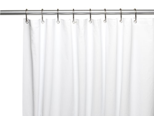 Carnation Home Fashions Clean PEVA Liner Shower Curtain, Standard, White