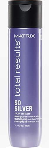 Matrix Total Results Shampoo matizador morado So Silver Neutraliza tonos amarillos para cabellos rubios y ceni