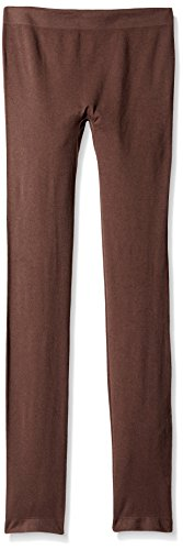 Via Spiga Women's Basic Seamless Leggings, Chocolate, Medium/Large