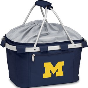 Metro Embroidered Basket (NCAA Michigan Wolverines Embroidered Metro Basket, One Size, Navy)
