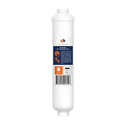 1-PACK Of Inline Post/Carbon Polishing Water Filter Catridge for Reverse Osmosis System Standard Size ()