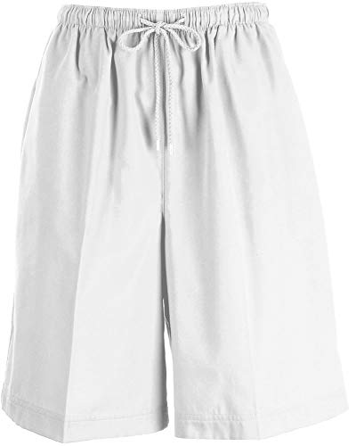 Coral Bay Womens The Everyday Twill Drawstring Shorts X-Large White ()