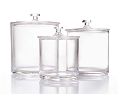 Beautiii Premium Quality Clear Acrylic Apothecary Jars | Set of -