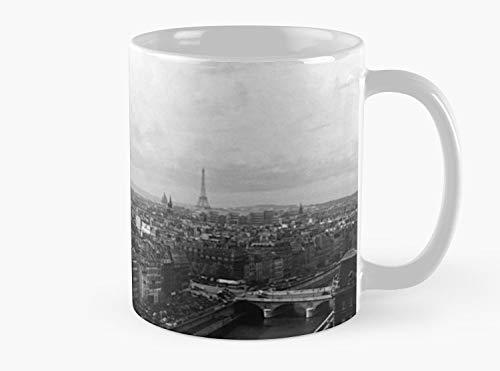 BW France Paris Notre Dame Cathedral the devil 1970s Mug, Standard Mug Mug Coffee Mug Tea Mug - 11 oz Premium Quality printed coffee mug - Unique Gifting ideas for Friend/coworker/loved ones