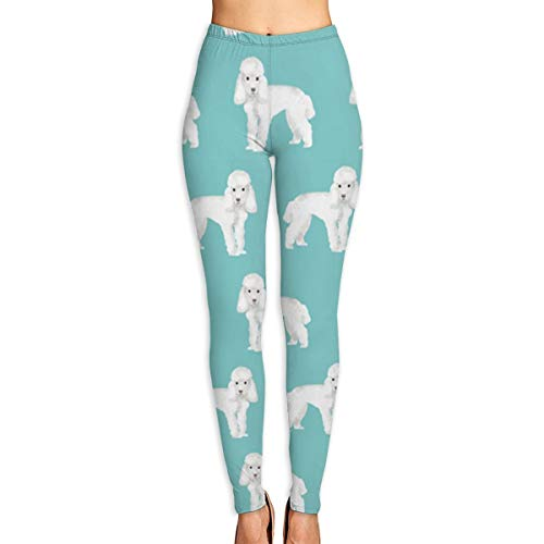 (SHUAJAH Women High Waist Yoga Pants Tights Leggings with Poodle Puppy Pattern)