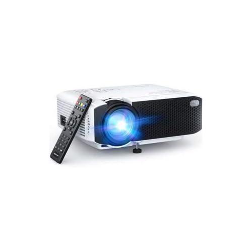 chollos oferta descuentos barato Proyector APEMAN Mini Proyector Portátil en Casa Soporte HD 1080P 5000 Lúmenes Pantalla Grande Altavoces Duales 50000 Horas Vida Compatible con TV Stick PS4 Cable HDMI RCA Incluido