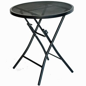 89 Black Steel Bistro Table ()