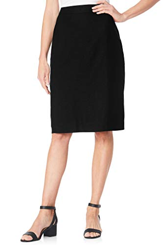 Chadwicks of Boston Linen Pencil Skirt Black