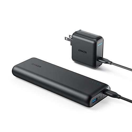 Anker PowerCore Speed 20000 PD, 20100mAh Portable Charger & 30W Power Delivery Wall Charger Bundle, Type C Power Bank for MacBook Air/iPad Pro 2018, Nexus 5X / 6P, iPhone 8 / X, MacBooks