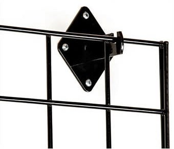 Only Garment Racks 2' x 6' Black Wire Grid Panel Wall Display - Grid Wall Complete with Wall Mount Brackets - (Sold as a Set of 3 Gridwalls and 12 Wall Mount Brackets) by Only Garment Racks (Image #3)