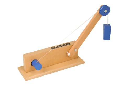 ETA hand2mind Simple Wooden Machine Collection 2: Inclined Plane/Cart, Pulley, Lever, Wheel & Axle Models