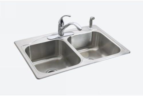 KOHLER K-3145-4-NA Cadence Top Mount Kitchen Sink with Four Faucet Holes,  33\