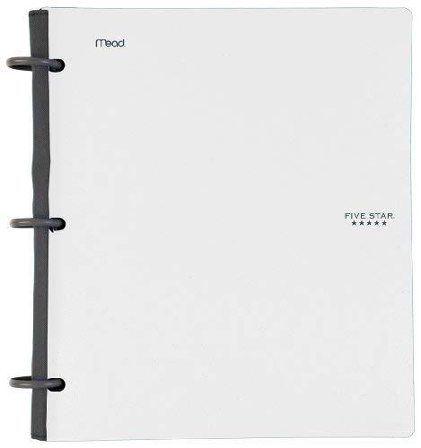 Five Star Flex Hybrid NoteBinder, 1 Inch Binder, Notebook and Binder All-in-One, White (72512) ()