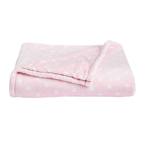 The Big One Oversized Plush Throw (Pink Dot V2) - 5ft x 6ft Super Soft and Cozy Micro-Fleece Blanket for couch or bedroom