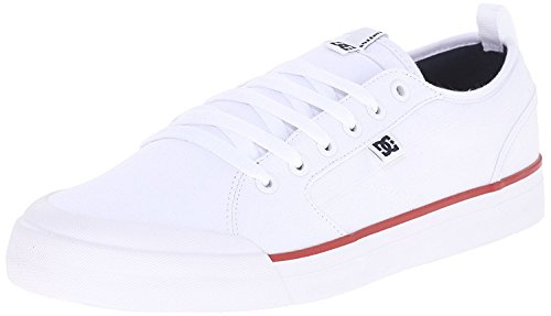 DC Mens Evan Smith TX Skate Shoe, Blanco/azul marino/rojo, 44.5 D(M) EU/10 D(M) UK